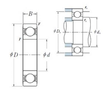 120 mm x 215 mm x 40 mm  NSK 6224 Deep groove ball bearings 6224 ZZ VV DDU Bearing Size 120x215x40 Single Row Radial Bearing