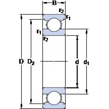 70 mm x 110 mm x 20 mm  SKF 6014 Deep groove ball bearings 6014 Bearing size 70X110X20