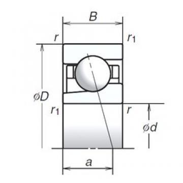 17 mm x 30 mm x 7 mm  17BGR19H Bearing NSK High Precision Ball Screw Bearing 17BGR19H NSK Bearing Size: 17x30x7mm