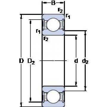 17 mm x 30 mm x 7 mm  SKF 61903-2RS1 Deep groove ball bearing size: 17x30x7 mm 61903-2RS1/C3