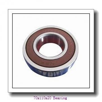 Industrial bearing deep groove ball bearings 6014/C3 Size 70X110X20